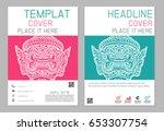 flyer design vector template in ...   Shutterstock .eps vector #653307754