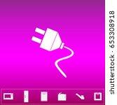 electrical plug. flat simple...