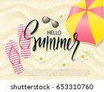 summer beach background with... | Shutterstock .eps vector #653310760