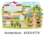 vector cartoon funny...   Shutterstock .eps vector #653314774