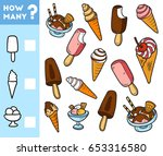 counting game for preschool... | Shutterstock .eps vector #653316580