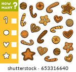 counting game for preschool... | Shutterstock .eps vector #653316640