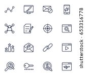set of 16 search outline icons... | Shutterstock .eps vector #653316778