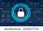 safety screen.futuristic user... | Shutterstock .eps vector #653317714