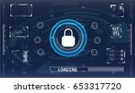 safety screen.futuristic user... | Shutterstock .eps vector #653317720
