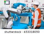 maintenance engineer control... | Shutterstock . vector #653318050