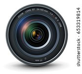 camera photo lens  vector... | Shutterstock .eps vector #653319814