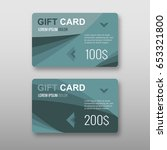 set of gift discount cards... | Shutterstock .eps vector #653321800