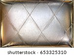 silver upholstery leather... | Shutterstock . vector #653325310