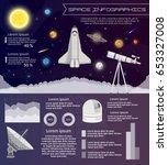 solar system space shuttle... | Shutterstock .eps vector #653327008
