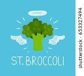 "heaven broccoli concept ""st.... | Shutterstock .eps vector #653327494"
