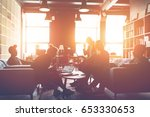 silhouette of business group... | Shutterstock . vector #653330653