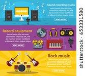 recording studio banner... | Shutterstock .eps vector #653331580