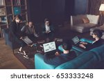 business group discussing new... | Shutterstock . vector #653333248