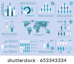 vector demographic people icons ... | Shutterstock .eps vector #653343334