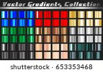 gradient square set. collection ... | Shutterstock .eps vector #653353468