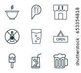 icons set. collection of check... | Shutterstock .eps vector #653354818
