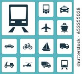 transport icons set. collection ... | Shutterstock .eps vector #653355028