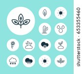 ecology icons set. collection... | Shutterstock .eps vector #653355460