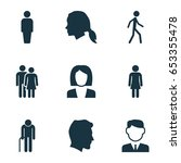 people icons set. collection of ... | Shutterstock .eps vector #653355478