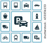 shipment icons set. collection...   Shutterstock .eps vector #653356153