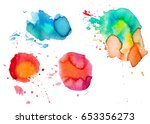 set of colorful abstract... | Shutterstock .eps vector #653356273