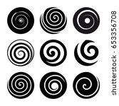 Set Of Spiral Motion Elements....