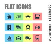 shipment icons set. collection...   Shutterstock .eps vector #653356930