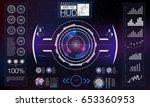 abstract hud. futuristic sci fi ...