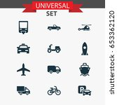 shipment icons set. collection... | Shutterstock .eps vector #653362120