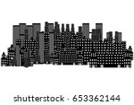 big city icon | Shutterstock .eps vector #653362144