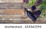 wine header | Shutterstock . vector #653362594