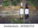 wine label mockup   Shutterstock . vector #653362714
