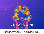 keep track concept illustration ... | Shutterstock .eps vector #653364403
