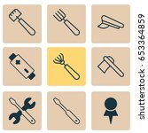 apparatus icons set. collection ... | Shutterstock .eps vector #653364859