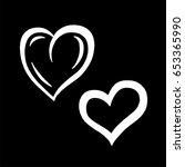 hand drawn hearts. design... | Shutterstock .eps vector #653365990