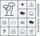 nature icons set. collection of ... | Shutterstock .eps vector #653366830