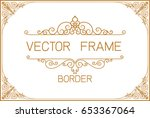 gold photo frame with corner... | Shutterstock .eps vector #653367064
