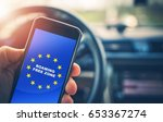 roaming free euro zone. texting ... | Shutterstock . vector #653367274