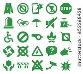 warning icons set. set of 25... | Shutterstock .eps vector #653368438