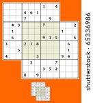 symmetrical double doku. 36... | Shutterstock .eps vector #65336986