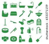 hygiene icons set. set of 25... | Shutterstock .eps vector #653371159