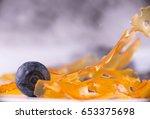 close up detail of marijuana... | Shutterstock . vector #653375698