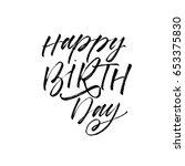 happy birthday greeting card... | Shutterstock .eps vector #653375830
