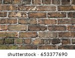 close up of an old exterior... | Shutterstock . vector #653377690