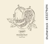 passion fruit  fruit  passion... | Shutterstock .eps vector #653379694