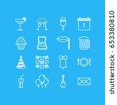 vector illustration of 16 feast ... | Shutterstock .eps vector #653380810