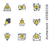 vector illustration of 9... | Shutterstock .eps vector #653381218