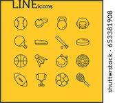 vector illustration of 16 sport ... | Shutterstock .eps vector #653381908