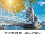 tower bridge in london in a... | Shutterstock . vector #653389090